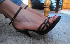 Heike (Darko83) Tags: sexy feet female toes highheels sandals fishnet tags mature heels milf mules pantyhose soles toenails footfetish nylons wedges sexytoes drscholls sweetfeet sexyfeet femalefeet drscholl scholls maturefeet wrinkledsoles süssefüsse drscholl´s scholl´s