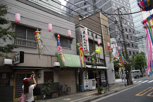 Photographing the Tanabata streamers