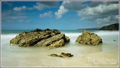 Portreath rocks (Simon Bone Photography) Tags: longexposure sea beach coast sand cornwall waves smooth coastal coastline cornish canon1740mmlf4 ndx400 wwwthehidawaycouk canoneos7d