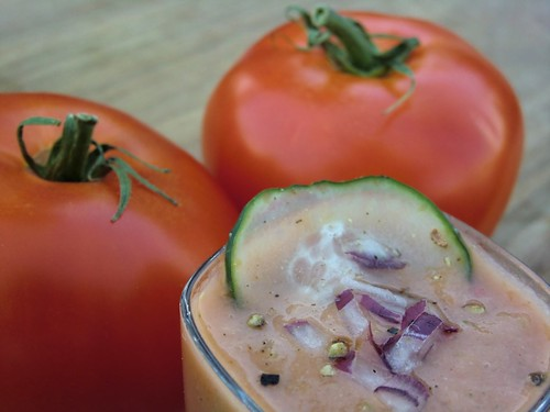 gazpacho is a celebration of tomatoes