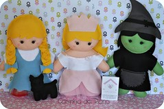 Mgico de Oz (Casinha de Pano) Tags: fairytale dorothy handmade felt feltro wizardofoz tot mgicodeoz enfeitedemesa bruxam bruxaboa