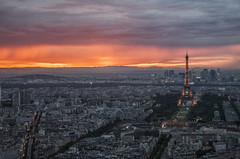 2014_05_20_tour-montp_071z (dsearls) Tags: blue sunset orange paris france tower skyline buildings dark evening view gray eiffeltower salmon eiffel champdemars tourmontparnasse 20140520 ceildeparis