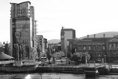 Belfast Riverscape II (avalard) Tags: bridge boats cityscape victorian belfast northernireland urbanlandscape countyantrim oddmanout riverlagan belfastlough belfastcitycentre albertmemorialclock