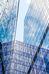Shades of blue (Bart Weerdenburg) Tags: blue blauw art architecture abstract monochrome lines stadskantoor utrecht lookingup