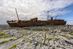 """Memoirs of the MV Plassy (Gareth Wray - 9 Million Views - Thank You) Tags: boat ship wreck stranded plassey plassy aran arann island islands inisheer inis oirr craggy father ted famous attraction galway abandoned strand vessel fishing bay beach ocean sea landscape seascape monument landmark tourist tourism wild way tourists historic history visit ireland irish gareth wray photography strabane hd fox hdfox nikon d810 nikkor 1424mm sun sand dry stone walls limestone pavement fractured atlantic water vacation sunset burren outdoor"