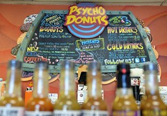 Psycho Donuts (jpellgen) Tags: psycho psychodonuts donut donuts doughnuts doughnut sanjose california ca cali westcoast bayarea travel nikon sigma 1770mm 2016 september usa america food menu sign
