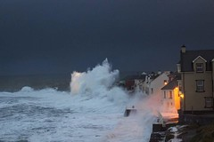 The prom getting battered by a wave in 2014 (sheelaghgleeson) Tags: storm big waves winter wildatlanticway lahinch