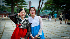 Land of the Morning Calm (gunman47) Tags: 2016 asia changgyeonggung korea korean october palace rok republic seoul south beautiful costume dress finger for girl hanbok photography portrait salute street traditional two v victory woman young   southkorea  land morning calm outdoor