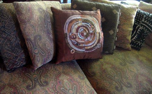 Recycled Circles Pillow