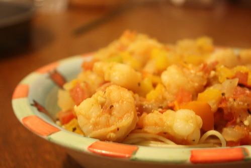 Pasta and shrimp1
