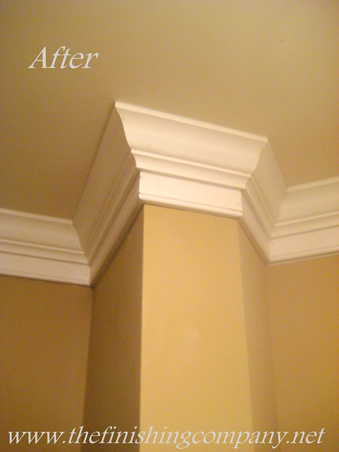 after crown molding and base boards