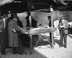 Shudehill Market Bookstall, 1939 (archivesplus) Tags: manchester book books bookshop bookstall manchesterlocalimagecollection gb127