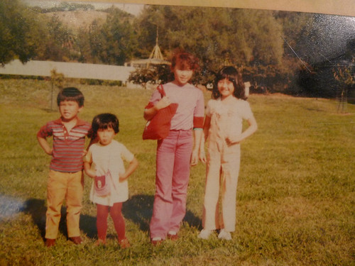 Some kids, me, and my sister
