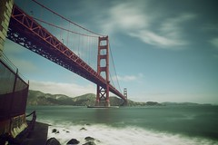 Golden Gate - 2 of 2 (www.mattdevino.com) Tags: california ca old city bridge 2 urban canon fence matt point golden bay gate san francisco rocks long exposure cityscape angle fort mark wide filter ii nd area 5d devino