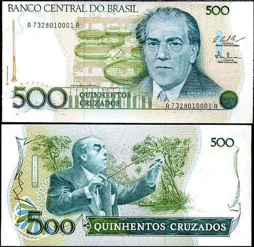 500 Cruzados Brazília 1986-88, Pick 212