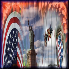 Fourth of July 2011 (gailpiland) Tags: holiday digital flag sensational statueofliberty 4thofjuly redwhiteblue starsstripes contemporaryartsociety awardtree gailpiland art2011