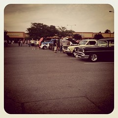 View from here ... car show!
