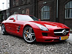 Mercedes Benz SLS 6.3 AMG (Niklas Emmerich Photography) Tags: red silver ceramic gold mercedes benz 63 jt luxemburg hattingen sls amg sterne schne 2011 worldcars
