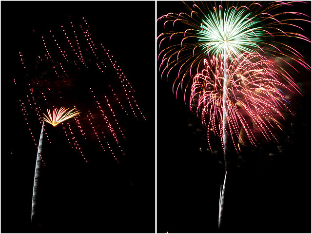 July 4th fireworks diptych 21