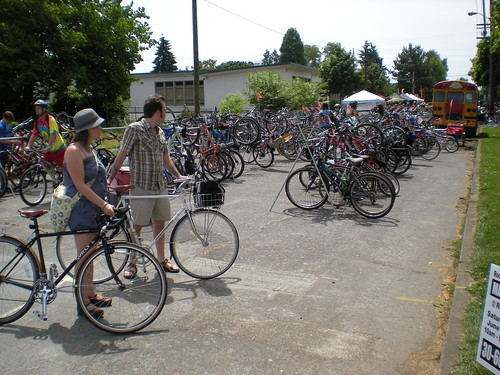 bike parking during Sunday Parkways