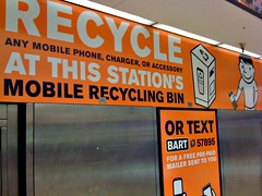 recycling station in San Francisco's BART system (by: envisionGood, creative commons license)