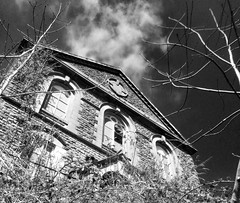 Hebron Chapel, Cymmer (3) (Fragglehound) Tags: history abandoned church monochrome wales architecture decay chapel derelict hdr cymmer twitter cymer