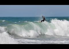 The (little) wave (patdebaz) Tags: ocean france nikon surf surfer wave surfing 64 explore vague pays basque biarritz d90