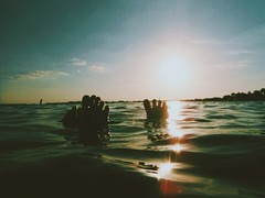 (LillyFuller.) Tags: sunset feet beach colors fun shadows highlights tones