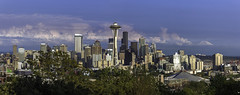 Seattle from Kerry Park (Bob Noble Photography) Tags: seattle canon panoramo canon24105 canon60d bobnoblephotography seattlefromkerrypark