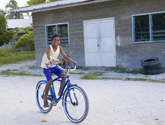 Chistmas Island - boy on a bike
