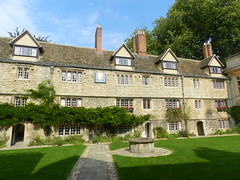 St Edmond Hall, Oxford Sep 2016 (allanmaciver) Tags: st hall oxford england university style architecture medieval well chimney trees grand class shadows allanmaciver edmond