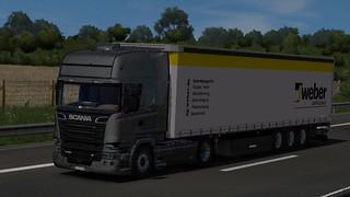 Scania R580 + Schwarzmüller Gardinenauflieger