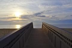 An Early Walk (Rich Renomeron) Tags: olympusmzuiko1442mmf3556ez olympusomdem10 beach bethanybeach
