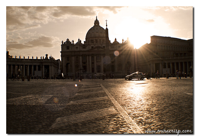 Sunset at St. Peter's Square