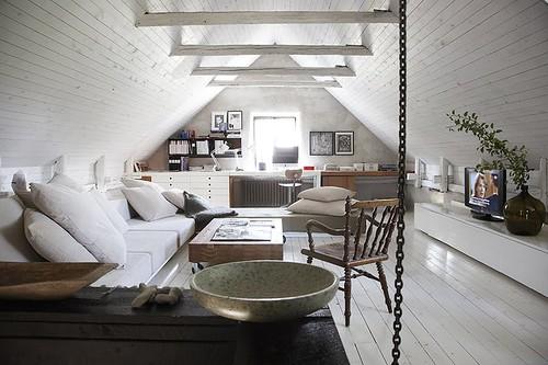 White Loft on white contemporary, white townhouse, white flex, white ranch, white land, white lobby, white condominium, white garage, white hardwood floors, white triplex,