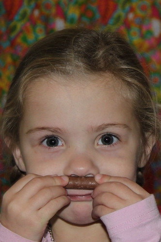 Photo booth Mila with choc moustache