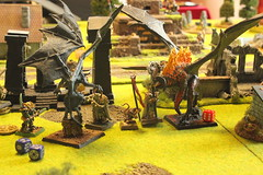 Turn_5 - Chaos and Skaven fight together against the Demon foes, it's not enough