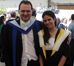 with Professor Mark Chaplain. (azorlu) Tags: university dundee mark graduation mathematics professor chaplain mathematicians 2011