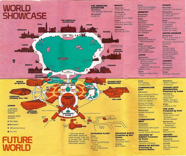 EPCOT Center map 1983 3