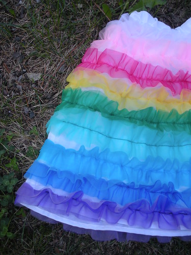 Zoey's Rainbow Can Can Skirt