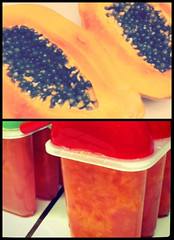 fresh fruit popsicles (snapgirl tc) Tags: papaya mango guava ipodphoto freshfruit popsicles homemadepopsicles 100daysofsummer2011 takenwithipodtouch4g