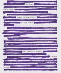 not too strange (candice~) Tags: poem theperksofbeingawallflower blackoutpoetry