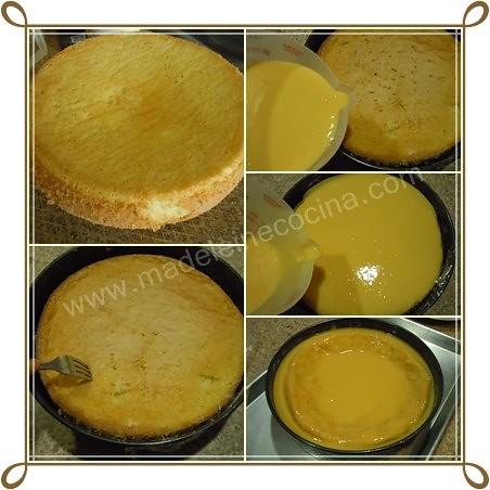 Mojando el pan con el puré de mango
