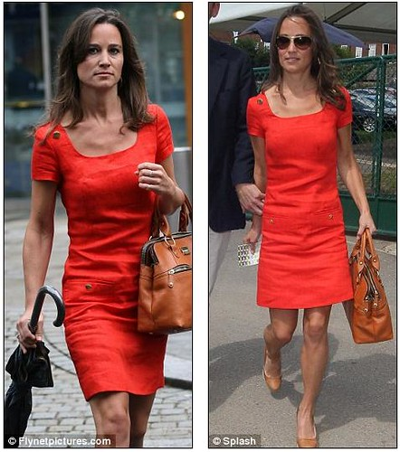 Pippa now rivals Kate in selling power as £129 red Hobbs dress sells out  1