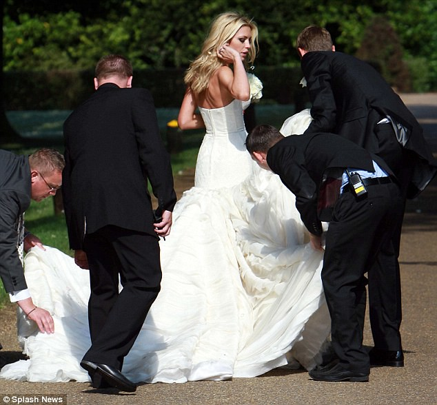 Nice day for a WAG wedding as Peter Crouch ties the knot with Abbey Clancy  8