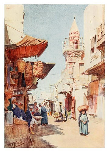 016-Calle del zoco Ez-Zalat en el Cairo-Below the cataracts (1907)- Walter Tyndale