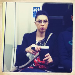 One day i will drink this brown liquid laughably called coffee... (tezzer57) Tags: londontube londontube150