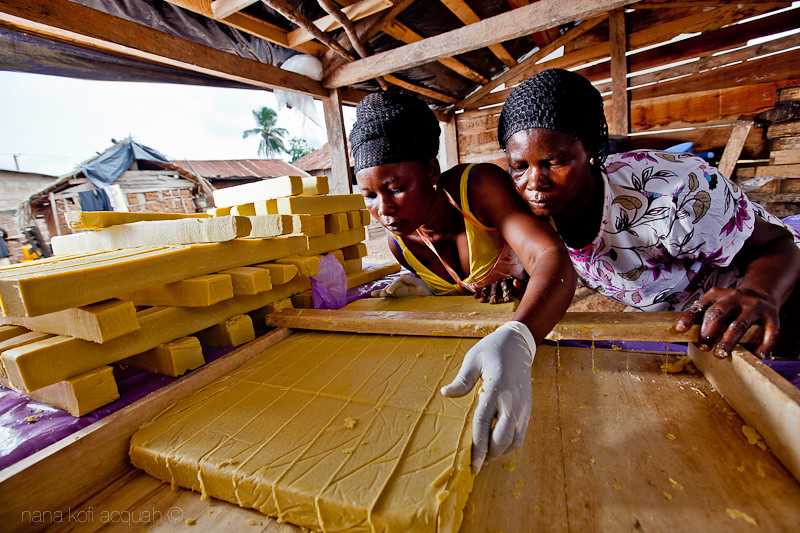 Ghanaian Women working hard
