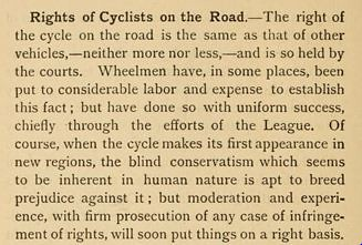 Rights of Cyclists on the Road