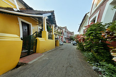 Fontainhas Panjim Goa India (Anoop Negi) Tags: old city blue houses red portrait india color building heritage yellow architecture buildings photography for photo media image photos delhi i